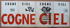 KAREL APPEL RARE COGNE CIEL 1955 ESTAMPE COBRA LITHOGRAPHIE POEME E LOOTEN  ++