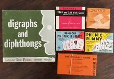 Vintage Phonics Flashcards Games Dolch Vowels Rummy Lot!