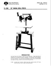 """Delta Rockwell Np. 11-280 32"""" Radial Drill Press Instructions"""
