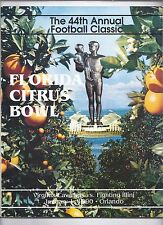 1990 Citrus Bowl Game Program Virgina Illinios