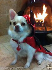 red black devil  costume dog pet clothes Halloween outift cute doggy small