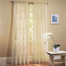 Door Window Curtain Drape Panel or Scarf Assorted Scarf Sheer Voile Khaki Color