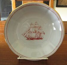 Spode England Trade Winds Red Ship George Salem Coupe Cereal Bowl Ribbed 6 1/4""