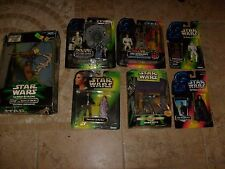 Star Wars  Power Force Lot Luke Han Leia Boba Fett 300 Laser Cannon POTF Figure