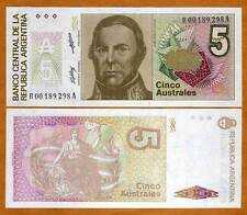 Argentina, 5 Australes,  P-324, UNC   REPLACEMENT