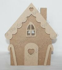 Free standing GINGERBREAD HOUSE wooden craft shape MDF 18mm thick