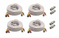4 x 100 Ft All-in-One BNC Video & Power Cable with Connectors FOR Q-SEE DVR - W