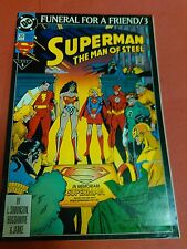 Superman The Man Of Steel Funeral For A Friend / 3 DC COMICS COMIC BOOK MAGAZINE