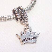 Princess Crown Daughter Little Girl Gift Dangle Bead for European Charm Bracelet