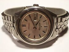 SEIKO VERY RARE VINTAGE BELL-MATIC, 4006-7020, SILVER  DIAL, 27J, SS, VG