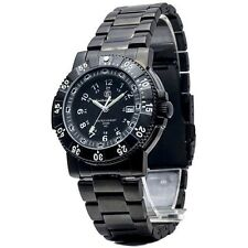 Smith & Wesson Men's Commander Tritium H3 Black Stainless Steel Strap Watch