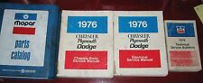 1976 Plymouth/Chry/Dodge Service/Parts Manual SET_Duster/Dart/Aspen/Swinger/Fury