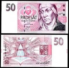 CZECH REPUBLIC 50 KORUN 1993 P 4 UNC
