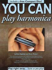 You Can Play Harmonica by Peter Pickow and Amy Appleby (1995, CD / Paperback)