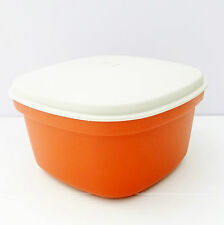 Vintage Tupperware Retro 1970s Orange Microwave Rice Steamer