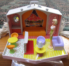 "NIB+RARE 2007~""BARBIE"" *FAMILY DELUXE HOUSE*~SET OF 2~HALLMARK KEEPSAKE ORNAMENT"