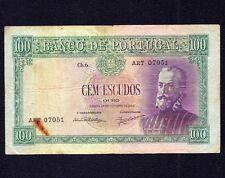 PORTUGAL 100 Escudos 1950  P-159  * P. Nunes * (ART)