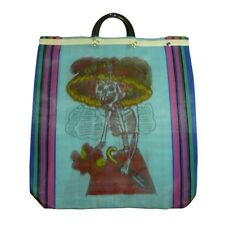 6 Lot Tote Bag Day of the Dead Recycled Assort Grocery Market Mesh Mexican Pack