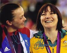 Victoria Pendleton & Anna Meares SIGNED 10X8 PHOTO LONDON OLYMPICS AFTAL COA