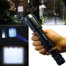 3000 Lumen Zoomable CREE XML T6 LED 18650 Flashlight Focus Torch Lamp Adjustable
