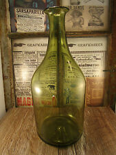 ++Antique++ SMALL Demijohn / bottle / free blown with PONTIL c1850 +WOW+