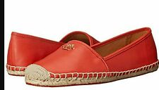NWT COACH RHODELLE Watermelon Soft Lambskin Leather Flat Shoes Sz  7.5