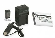 Battery +Charger for Olympus Stylus MJU 9000 Tough-6010