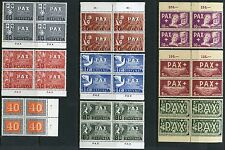 SWITZERLAND  SCOTT#293/305, B145 PAX COMPLETE BLOCK SET  MINT NH ORIGINAL GUM