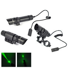 Powerful Tactical Green Dot Laser Sight Scope+Remote Switch+Mount+Picatinny Rail