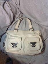 Women Marc Jacob Shoulder Bag Off White Cream Leather double Buckles-Pocket Fair
