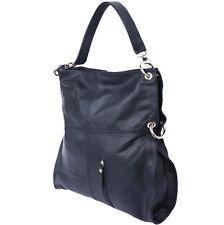 Schultertasche , Tasche aus italienischem Leder in Hand in Italien 3019 bk