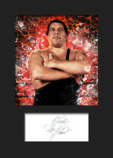 ANDRE THE GIANT #1 (WWE) Signed (Reprint) Photo A5 Mounted Print - FREE DELIVERY