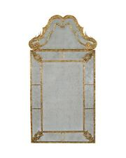 "69"" H Wood Frame Antique Gold Leaf Finish  Mirror"