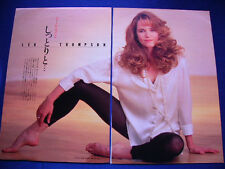 1990-1994 Lea Thompson Japan 23 Clippings & Poster Back To The Future
