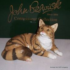 John Beswick Connoisseur Collection Maine Coon Brown Tabby Cat