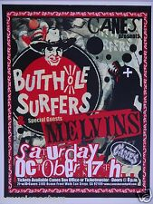 BUTTHOLE SURFERS & THE MELVINS 2009 SAN DIEGO CONCERT TOUR POSTER