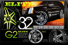 "Diablo Elite 30"" Wheels rims&Tires fit Chevy Cadillac GMC Ford  Old school cars"