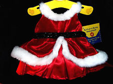 Build A Bear Workshop Clothing Christmas Holiday Red Velvet Dress New With Tag