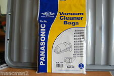 Electruepart Vacuum Cleaner  Bag 40  for Panosonic Cylinder vacs MCE