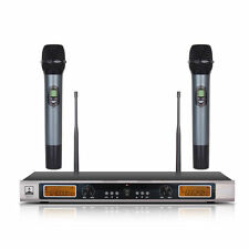 200 Channel Anti-interference UHF Wireless Microphone System Cordless Mic