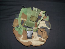 Military Issue MOLLE Woodland Canteen/ Utility/ Magazine Pouch w/ Black Buckle