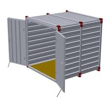 MATERIALCONTAINER 2,25x2,20x2,20 m Garage Gartencontainer Baucontainer Container
