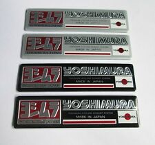 NEW YOSHIMURA  JAPAN Exhaust Aluminium plate emblem sticker Set of 4