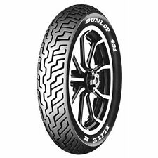 Dunlop 491 Elite II Touring White Letter Front Motorcycle Tires - 130/90B-16