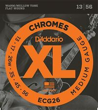 D'Addario Guitar Strings  Electric  1 Set  ECG26  Chromes  Medium