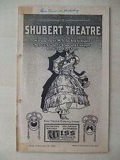November 24th, 1924 - Shubert Theatre Playbill - Lovetime In Heidelberg