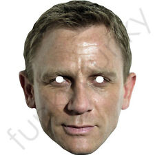 Daniel Craig James Bond Celebrity Card Mask. All Our Masks Are Pre-Cut!