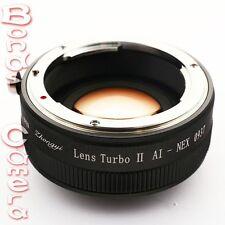 Zhongyi Focal Reducer Booster Turbo II Nikon F AI Lens to Sony E Adapter NEX-5T