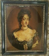 18th Century Georgian Royal Portrait Glass Print Stuart Queen Mary 2 Frame 1700s