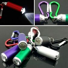 Mini LED Flashlight Camping Keychain Torch Handy Light Lamp Carabiner AU